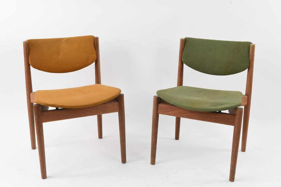 FINN JUHL FRANCE & SON TEAK MODEL 197 SIDE CHAIRS