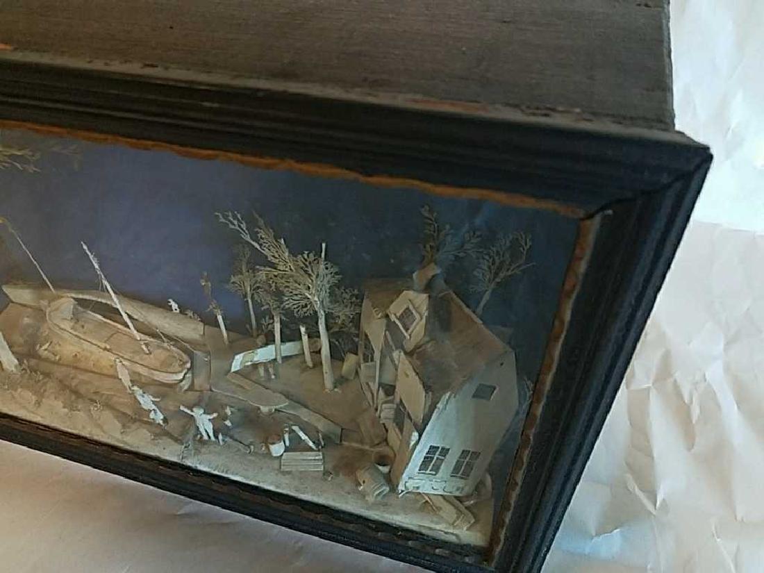 19TH C. CARVED BONE SHADOW BOX DIORAMA - 4