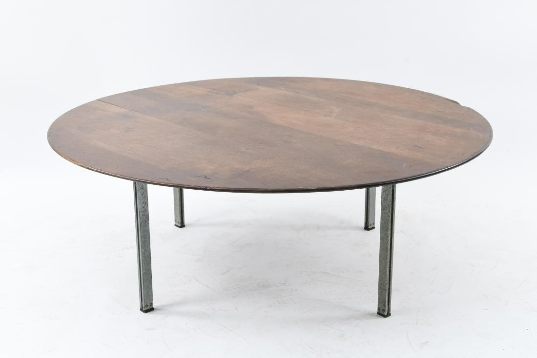 MID-CENTURY FLAT BAR LEG COFFEE TABLE