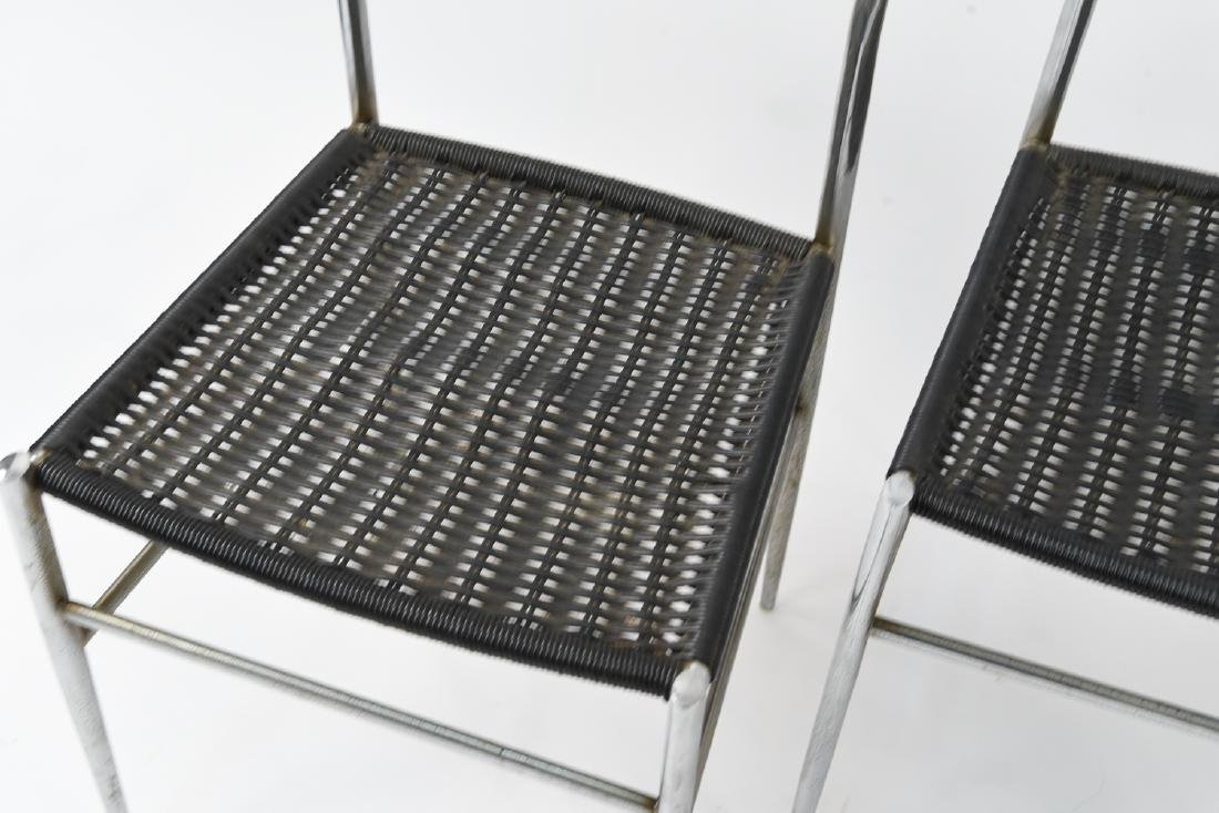(4) ITALIAN CHROME CHAIRS WITH WOVEN SEATS - 2