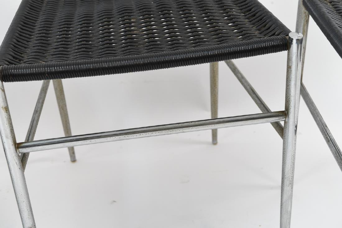 (4) ITALIAN CHROME CHAIRS WITH WOVEN SEATS - 6