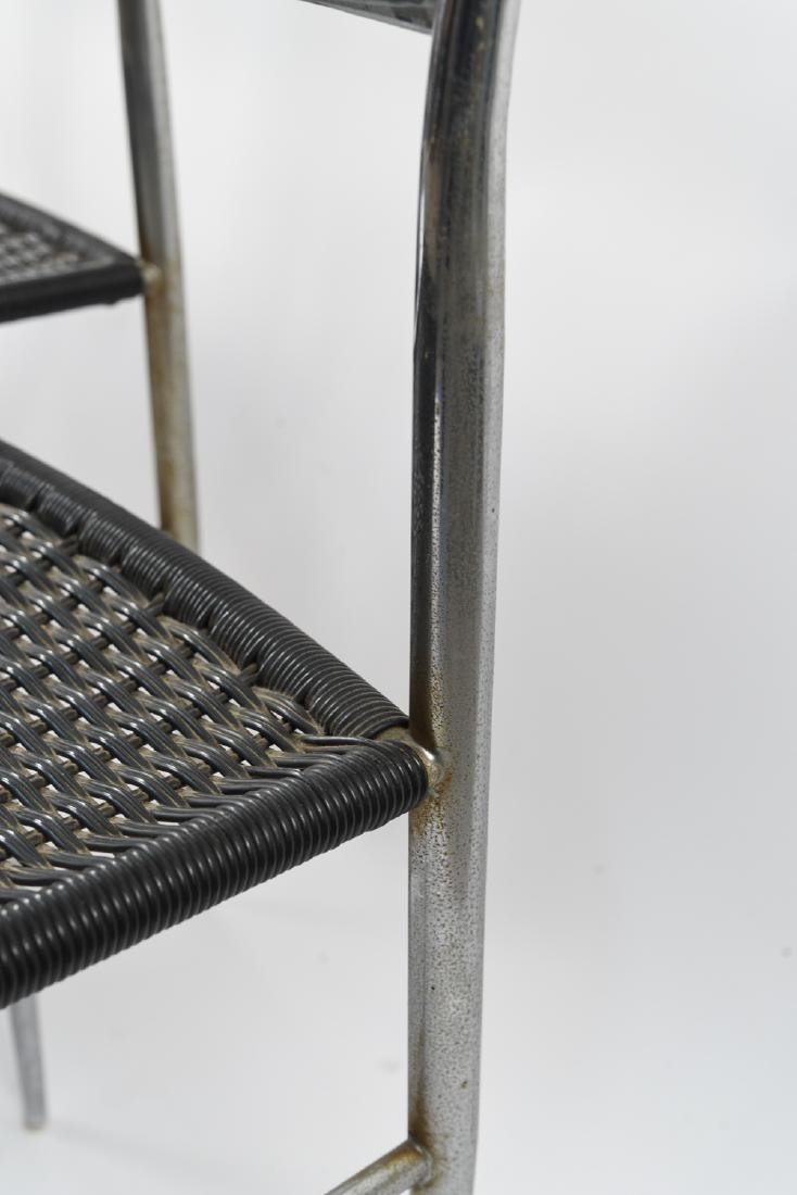 (4) ITALIAN CHROME CHAIRS WITH WOVEN SEATS - 8