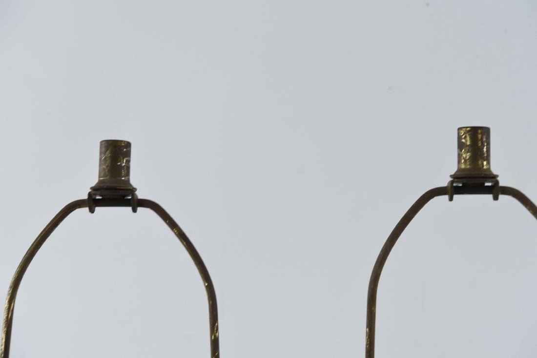 PAIR OF BRASS SCULPTURAL LAMPS - 2