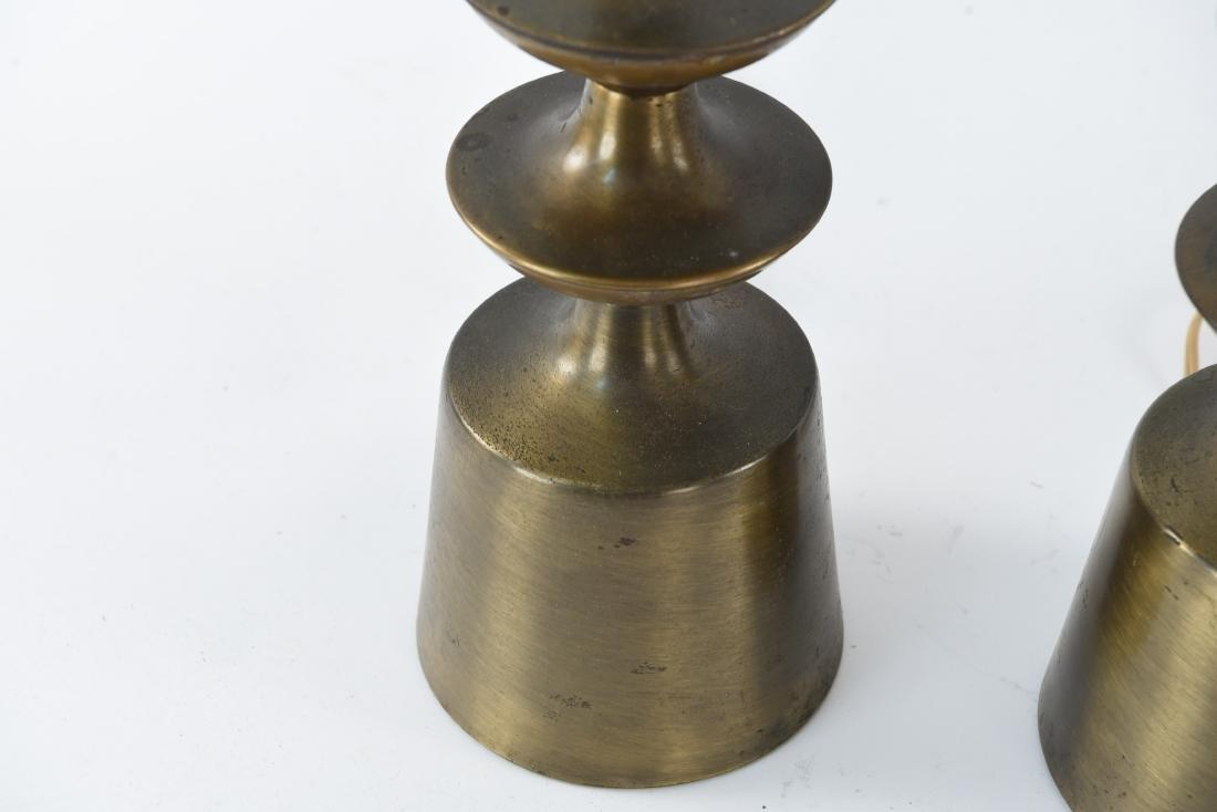 PAIR OF BRASS SCULPTURAL LAMPS - 5