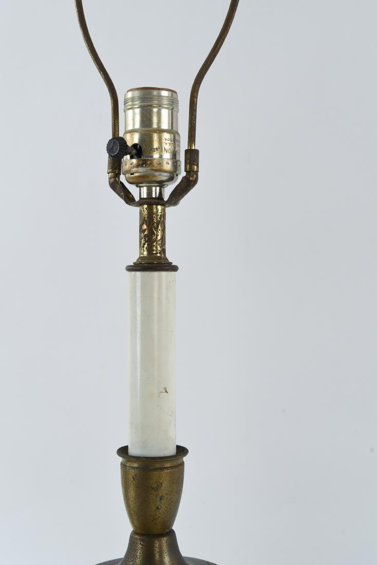PAIR OF BRASS SCULPTURAL LAMPS - 8