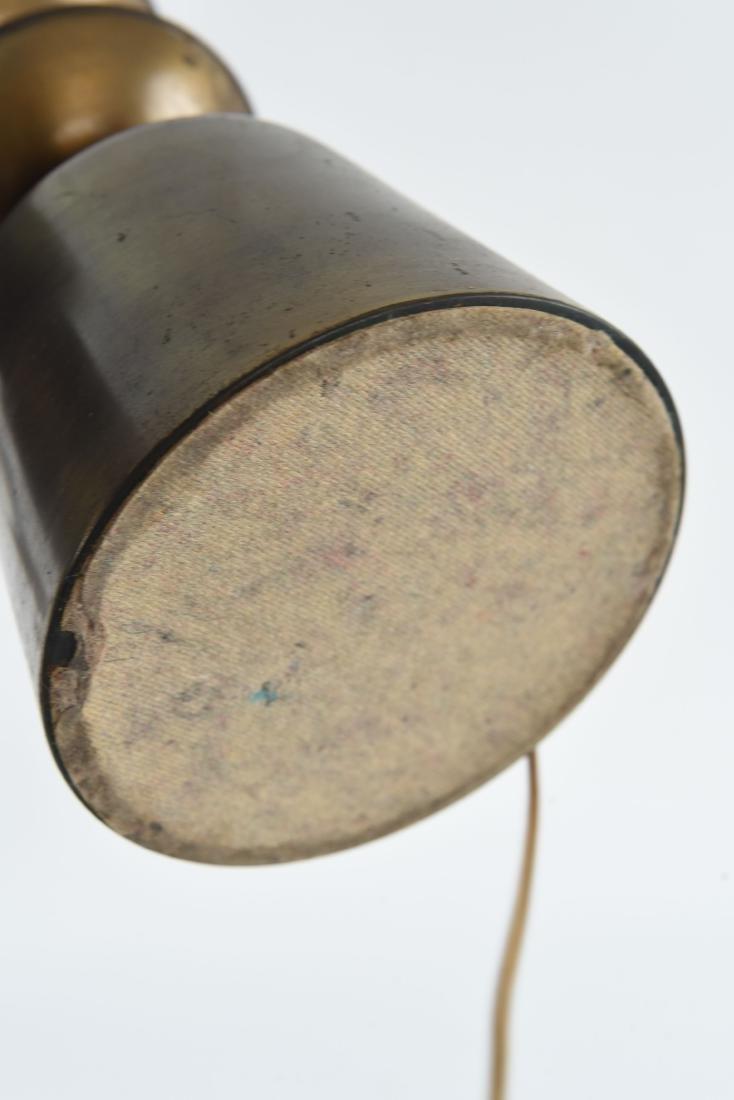 PAIR OF BRASS SCULPTURAL LAMPS - 9