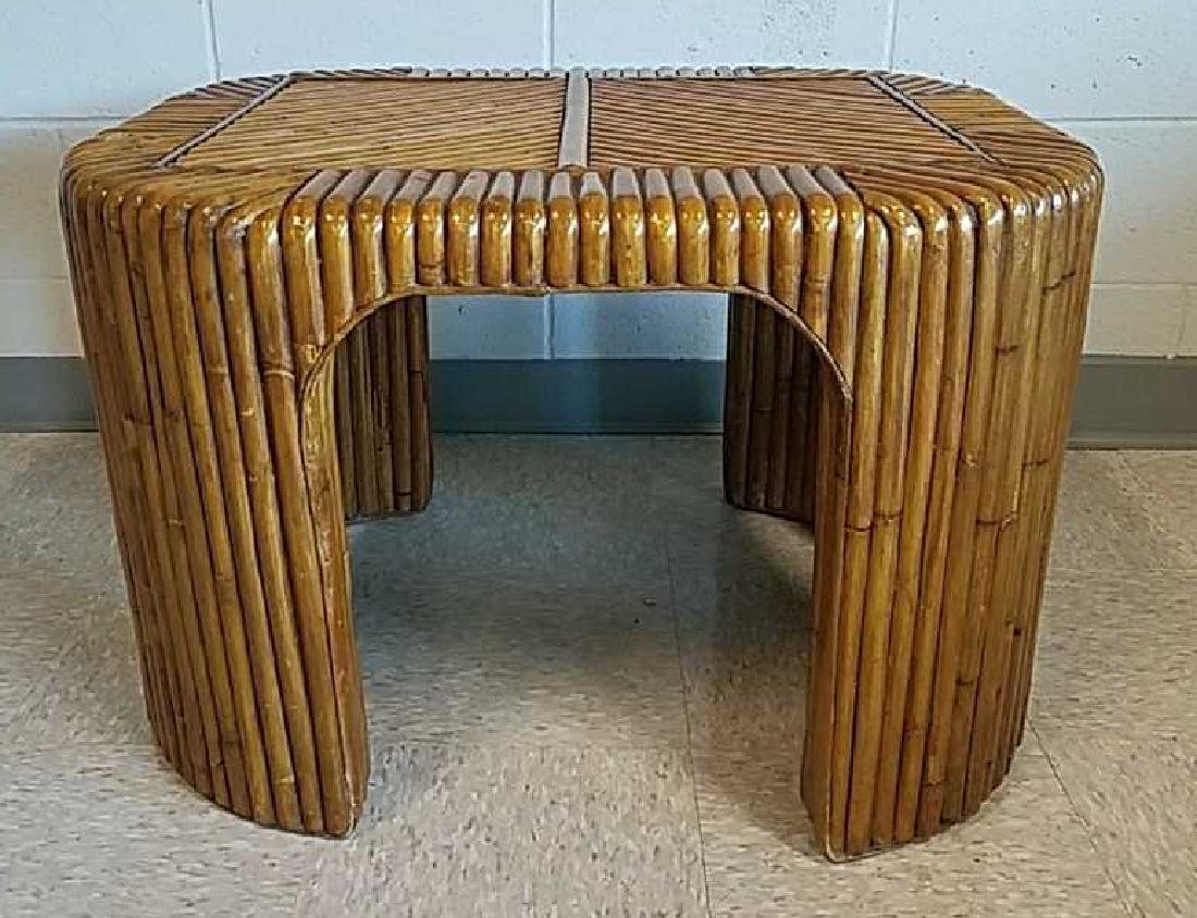 MANNER OF GABRIELLA CRESPI BAMBOO CLAD SIDE TABLE