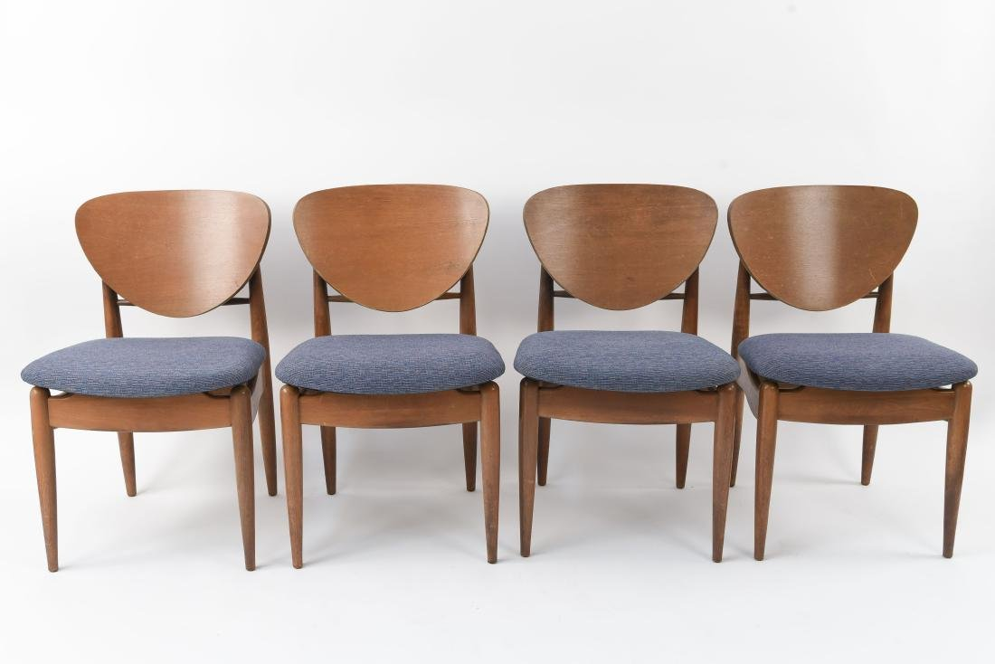 JOHN STUART DANISH BENT WOOD BACK CHAIRS