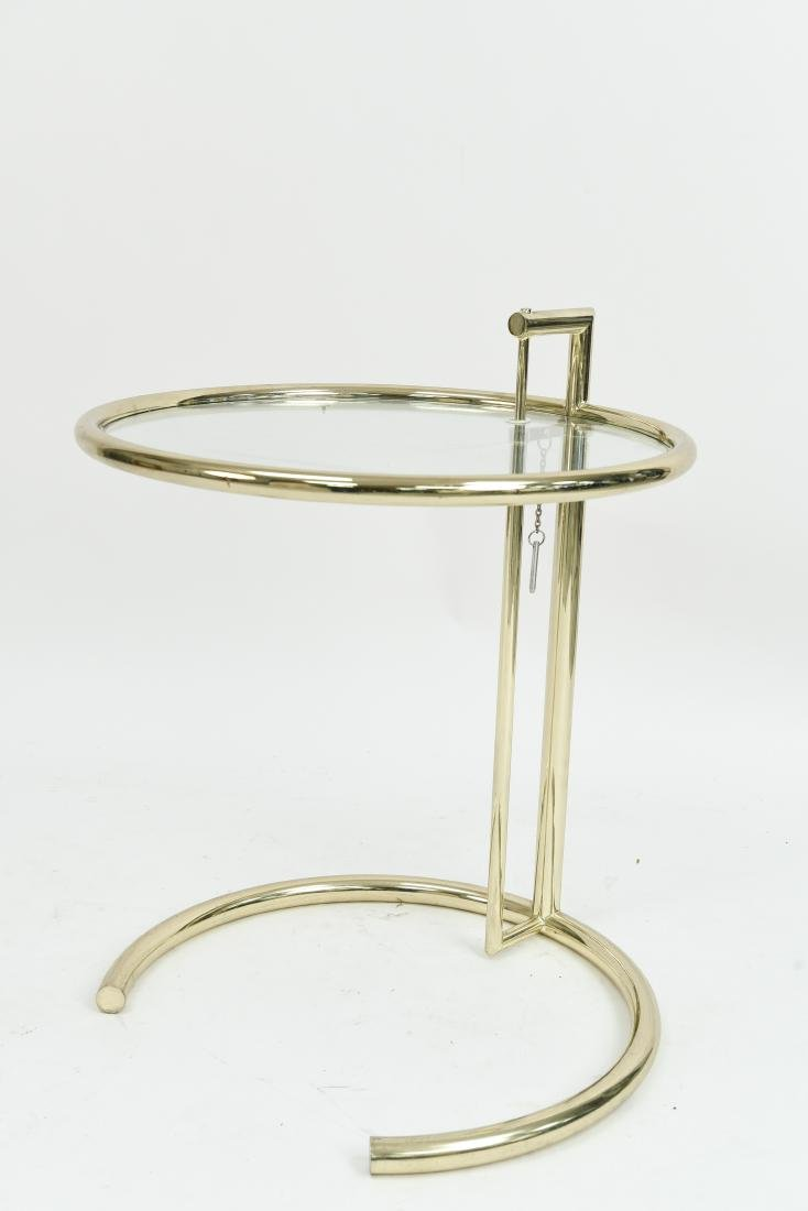 EILEEN GRAY BRASS SIDE TABLE
