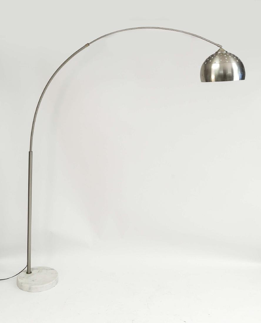 ARC FLOOR LAMP W/ MARBLE BASE