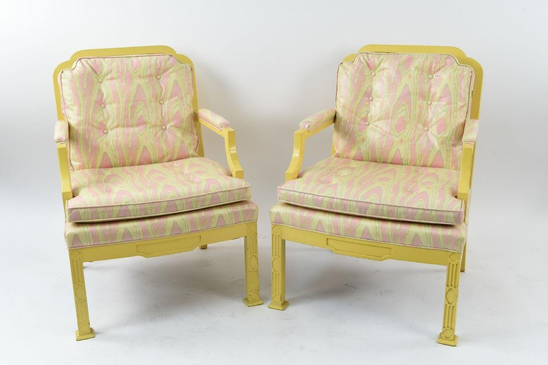 MID-CENTURY CHINESE CHIPPENDALE STYLE ARMCHAIRS