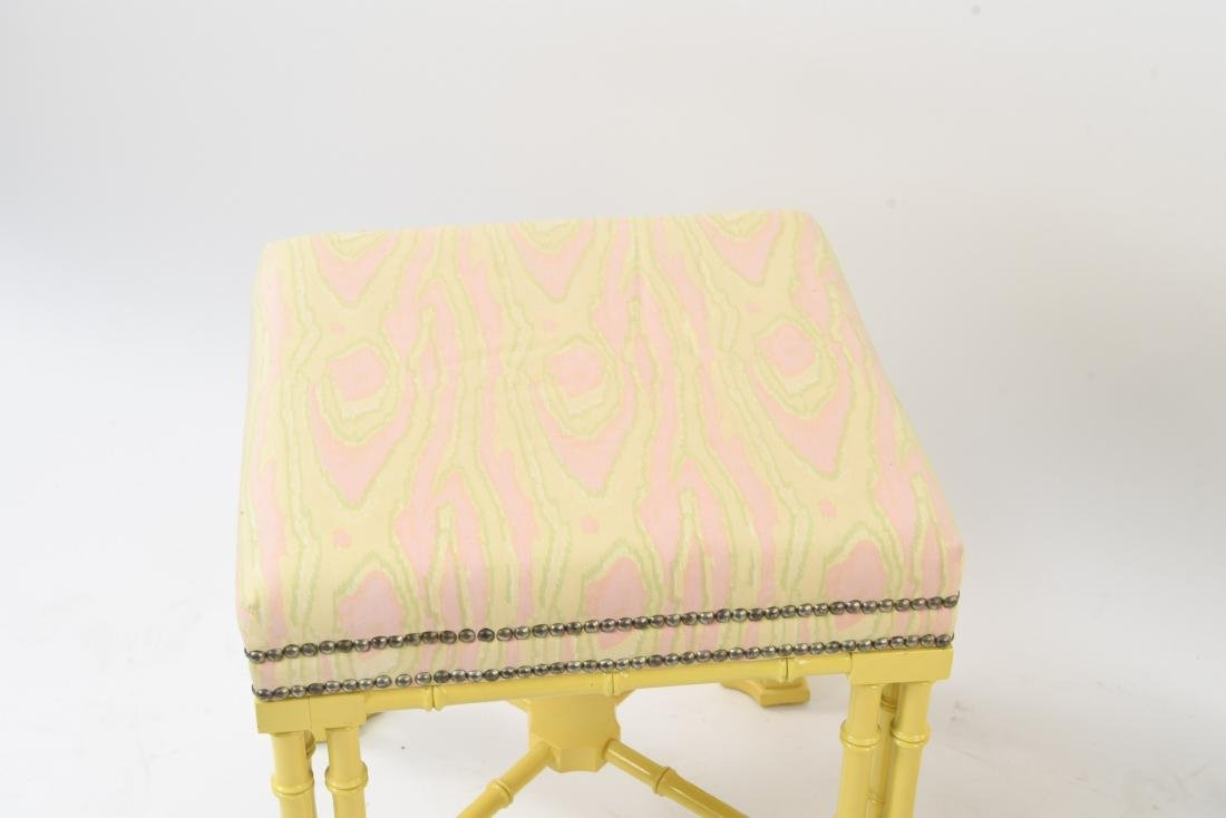 PAIR OF FAUX BAMBOO REGENCY STYLE STOOLS / BENCHES - 2