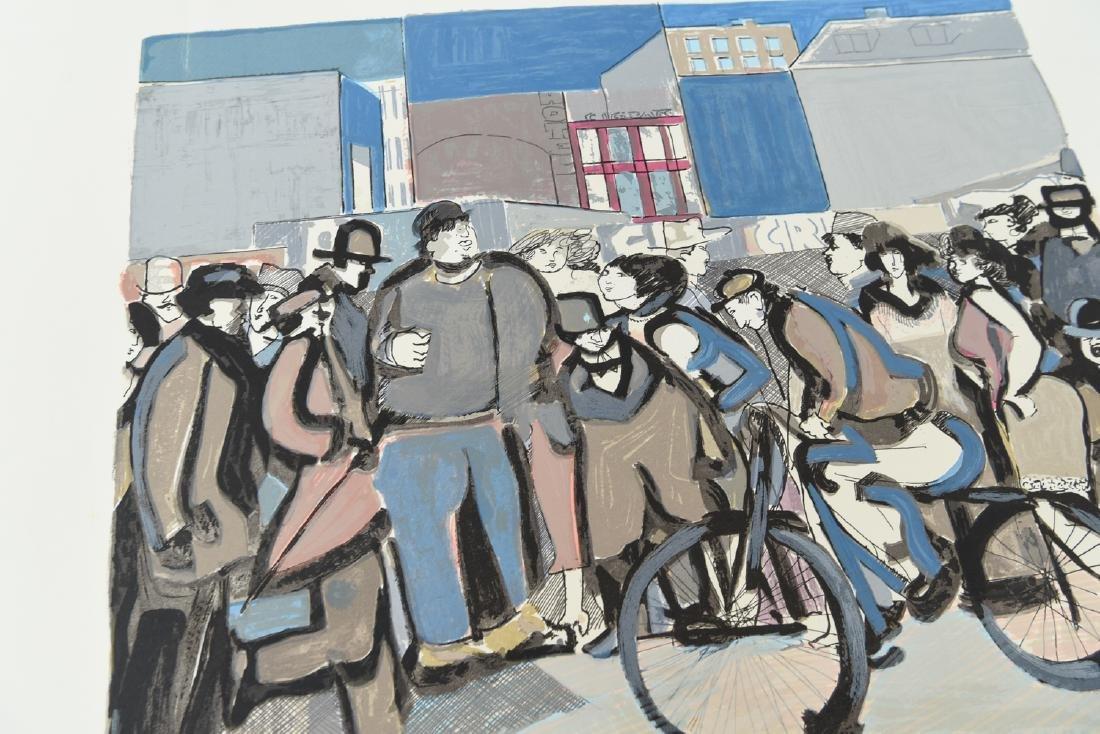 """(2) DAVID SCHNEUER (1906-1988) """"THE CYCLIST"""" LTD. - 10"""