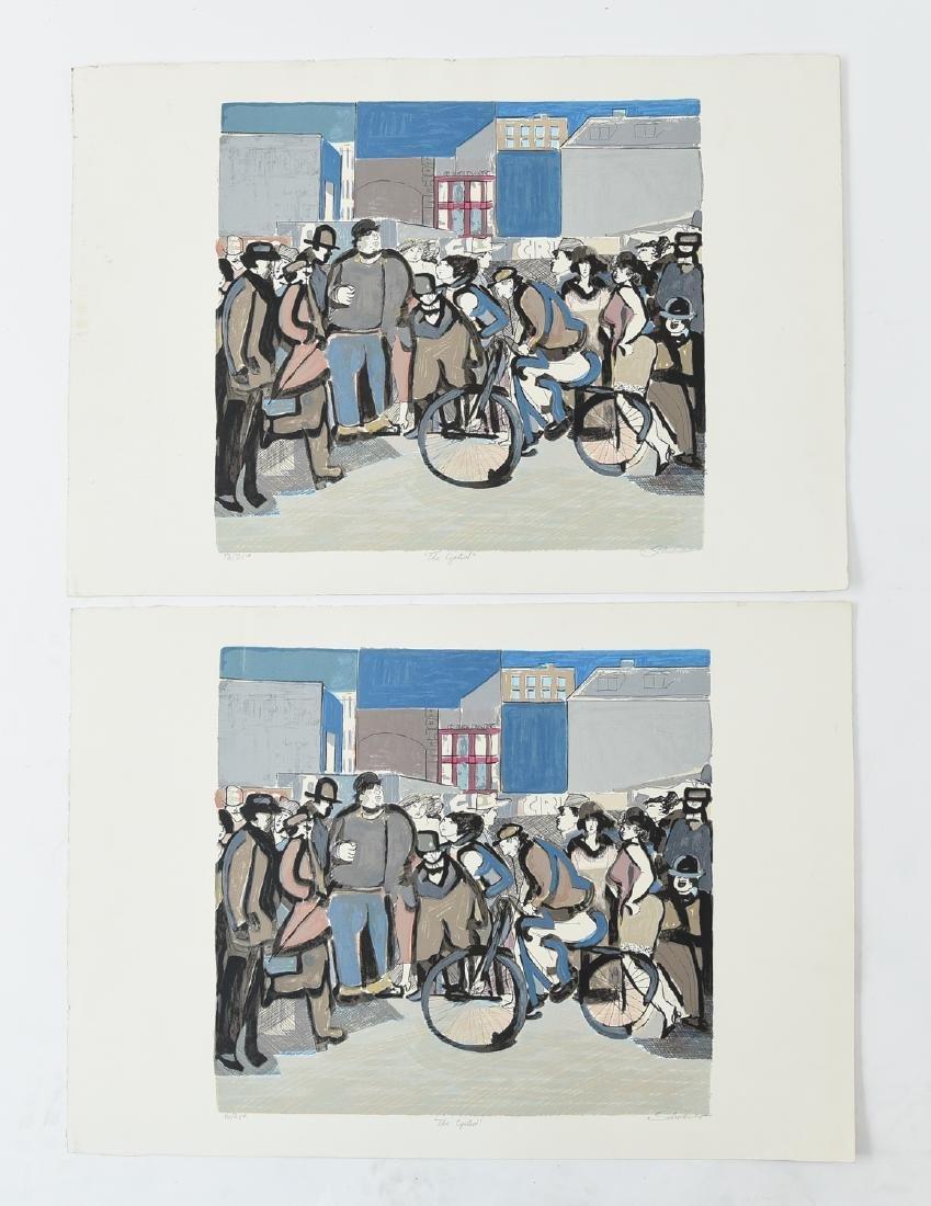 """(2) DAVID SCHNEUER (1906-1988) """"THE CYCLIST"""" LTD."""