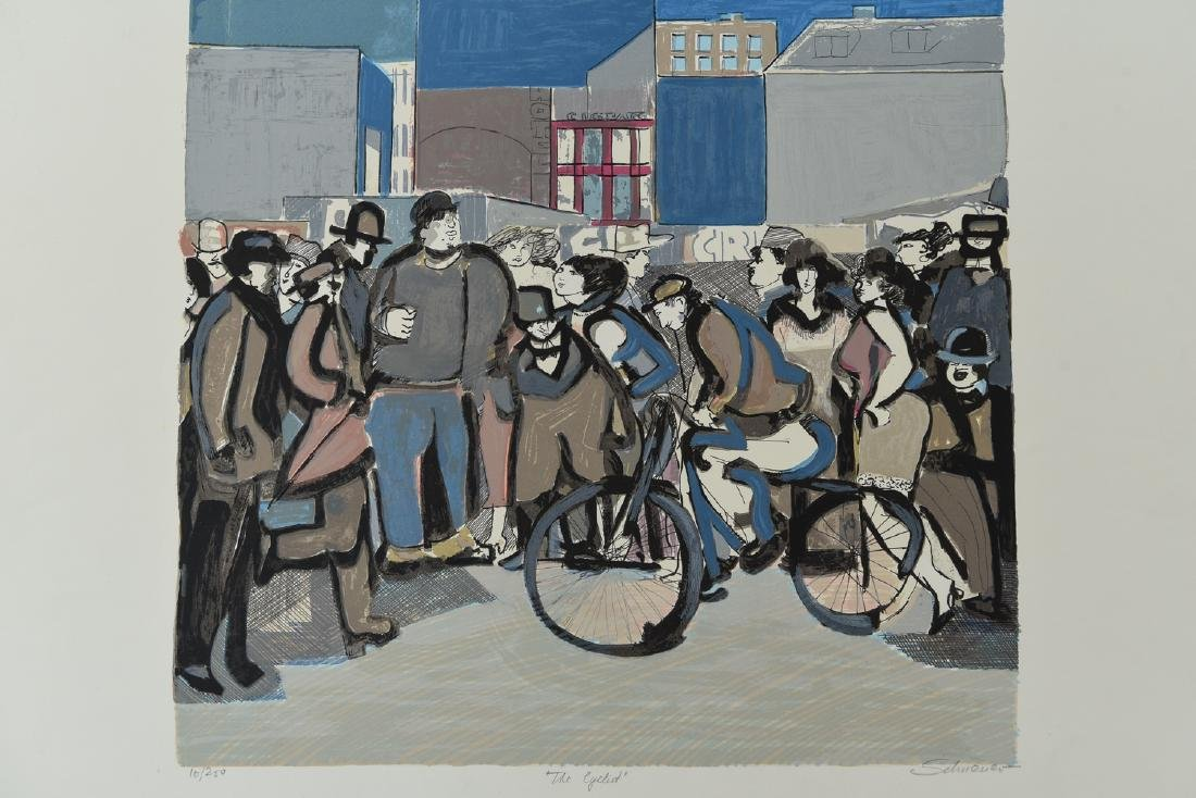 """(2) DAVID SCHNEUER (1906-1988) """"THE CYCLIST"""" LTD. - 2"""