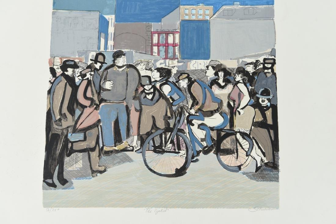 """(2) DAVID SCHNEUER (1906-1988) """"THE CYCLIST"""" LTD. - 3"""