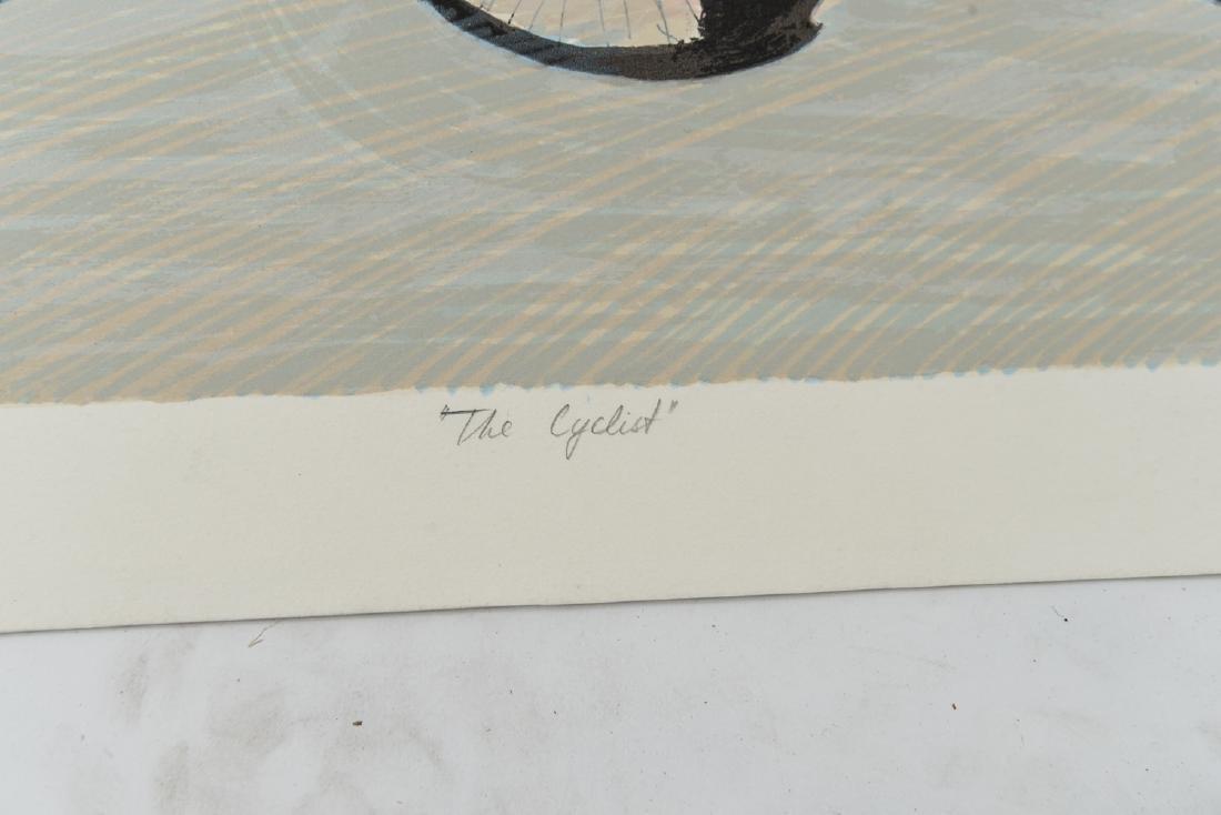 """(2) DAVID SCHNEUER (1906-1988) """"THE CYCLIST"""" LTD. - 5"""