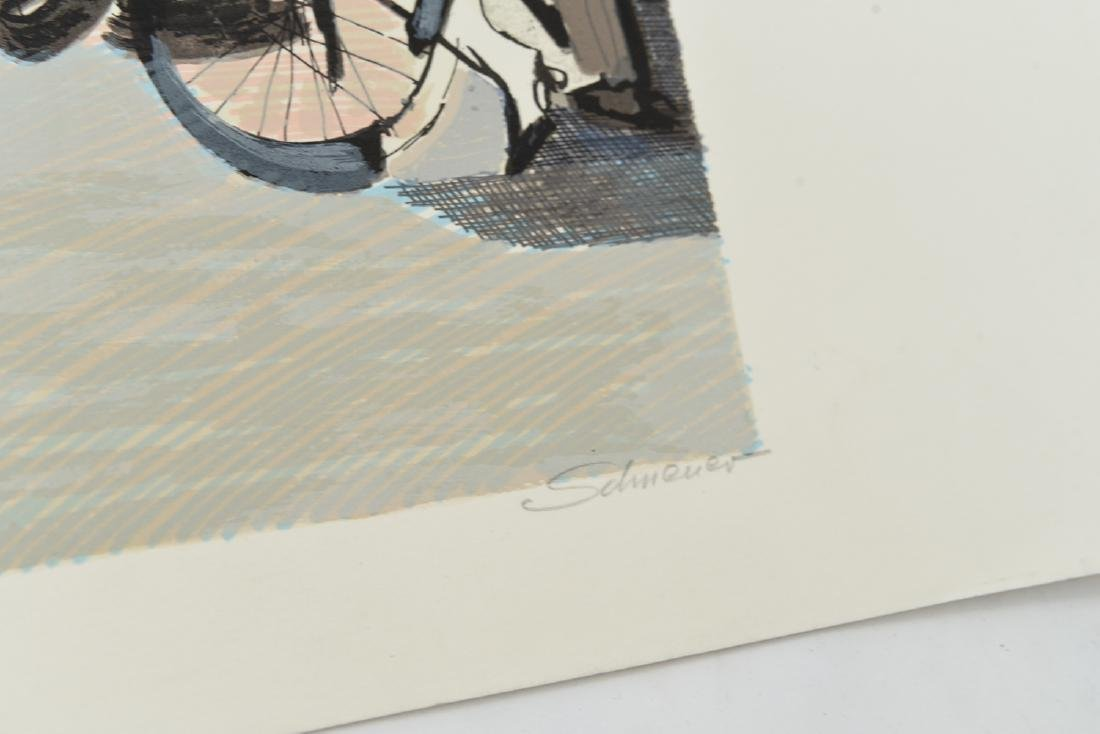 """(2) DAVID SCHNEUER (1906-1988) """"THE CYCLIST"""" LTD. - 6"""