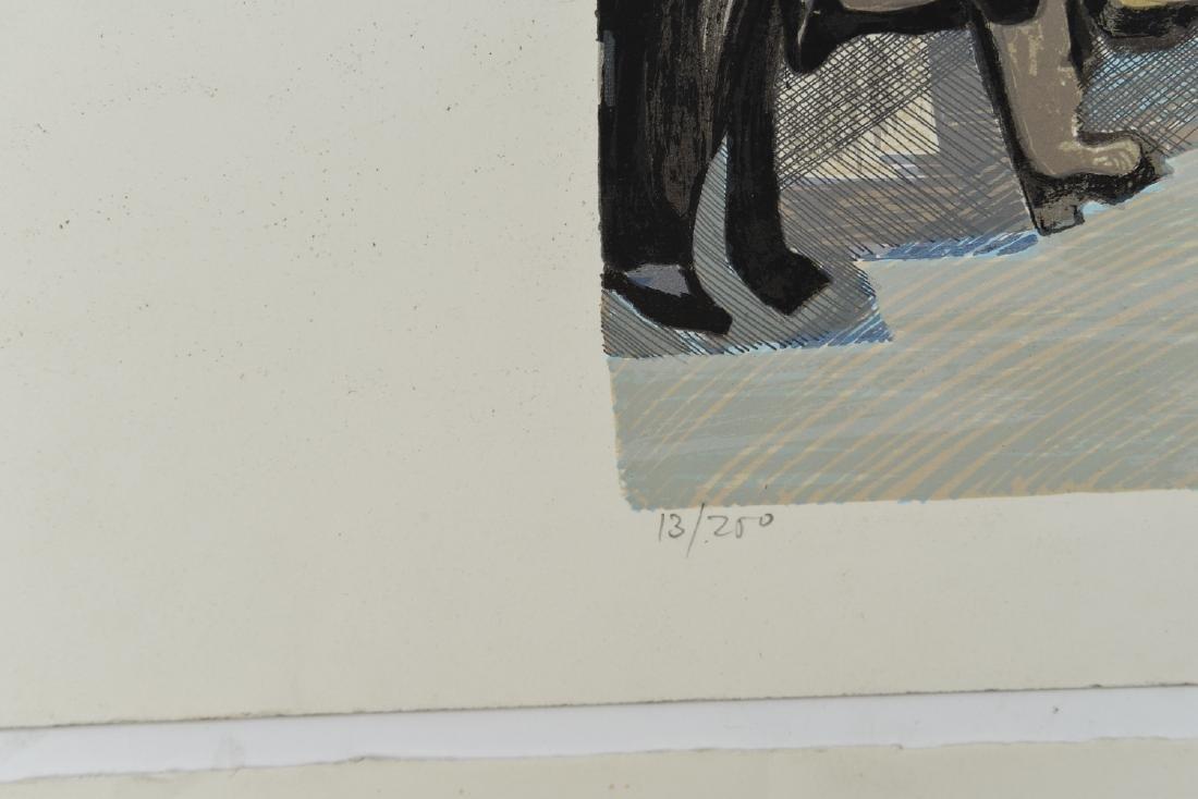 """(2) DAVID SCHNEUER (1906-1988) """"THE CYCLIST"""" LTD. - 7"""