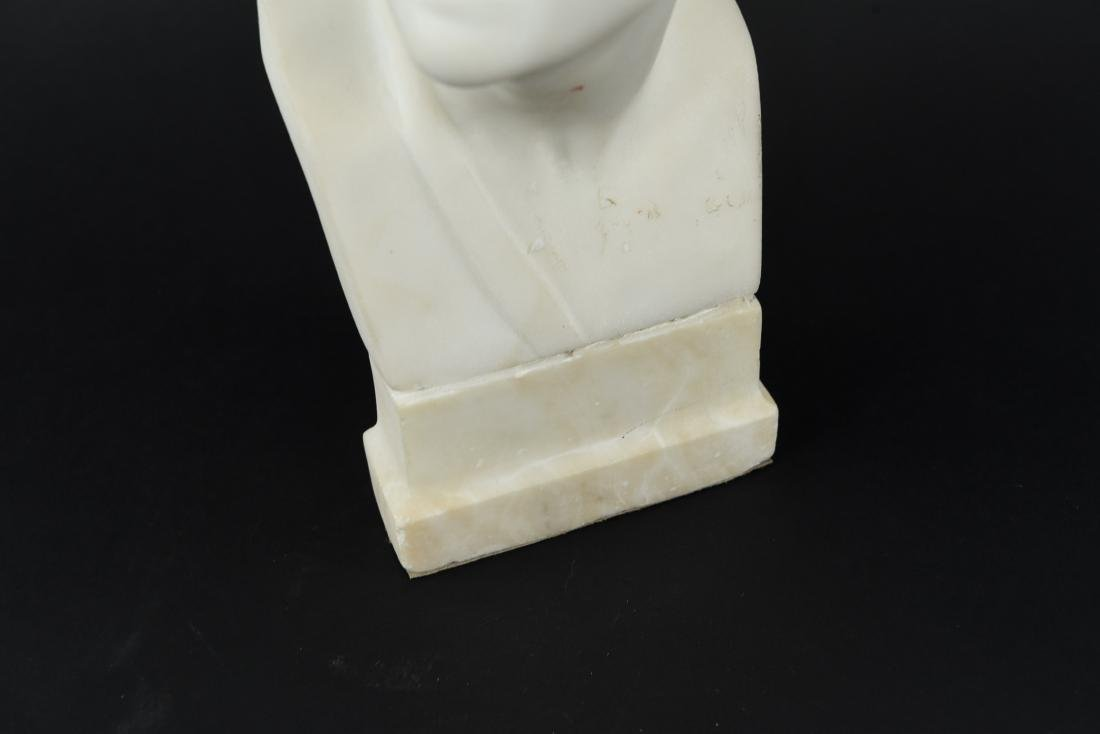 CARVED MARBLE MALE BUST SCULPTURE - 3
