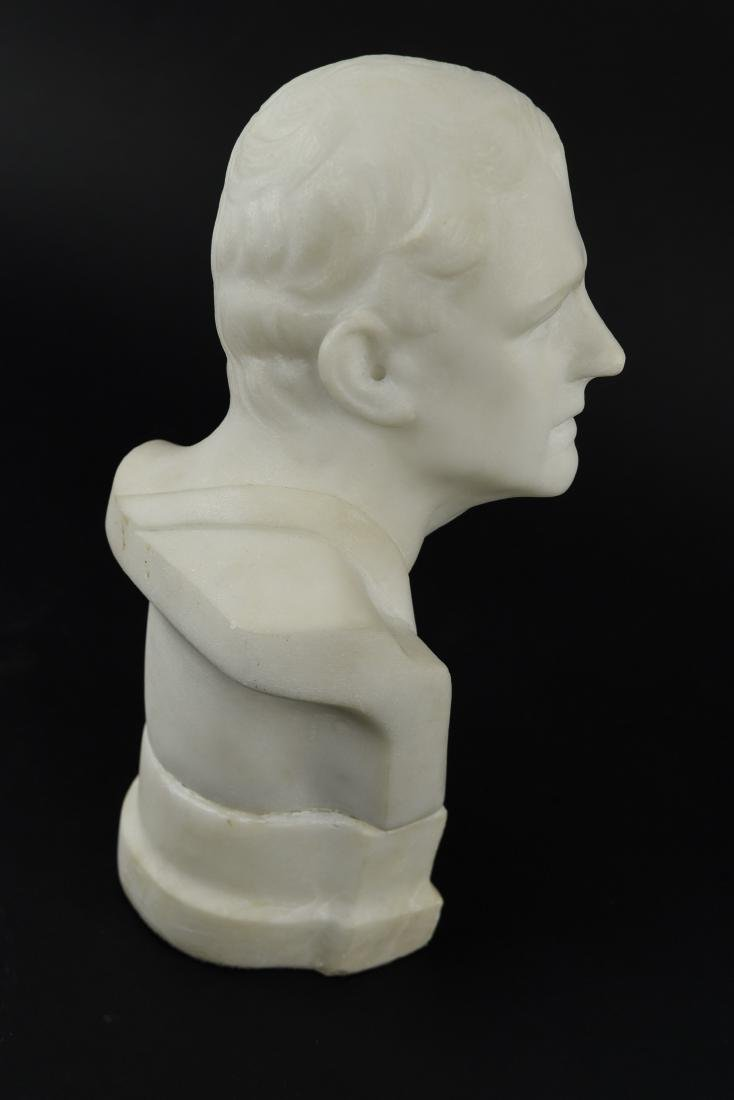 CARVED MARBLE MALE BUST SCULPTURE - 6