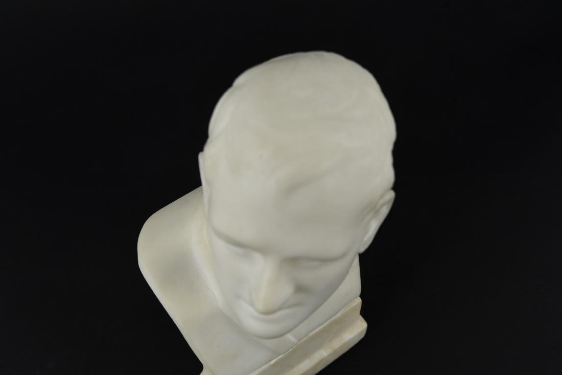 CARVED MARBLE MALE BUST SCULPTURE - 8
