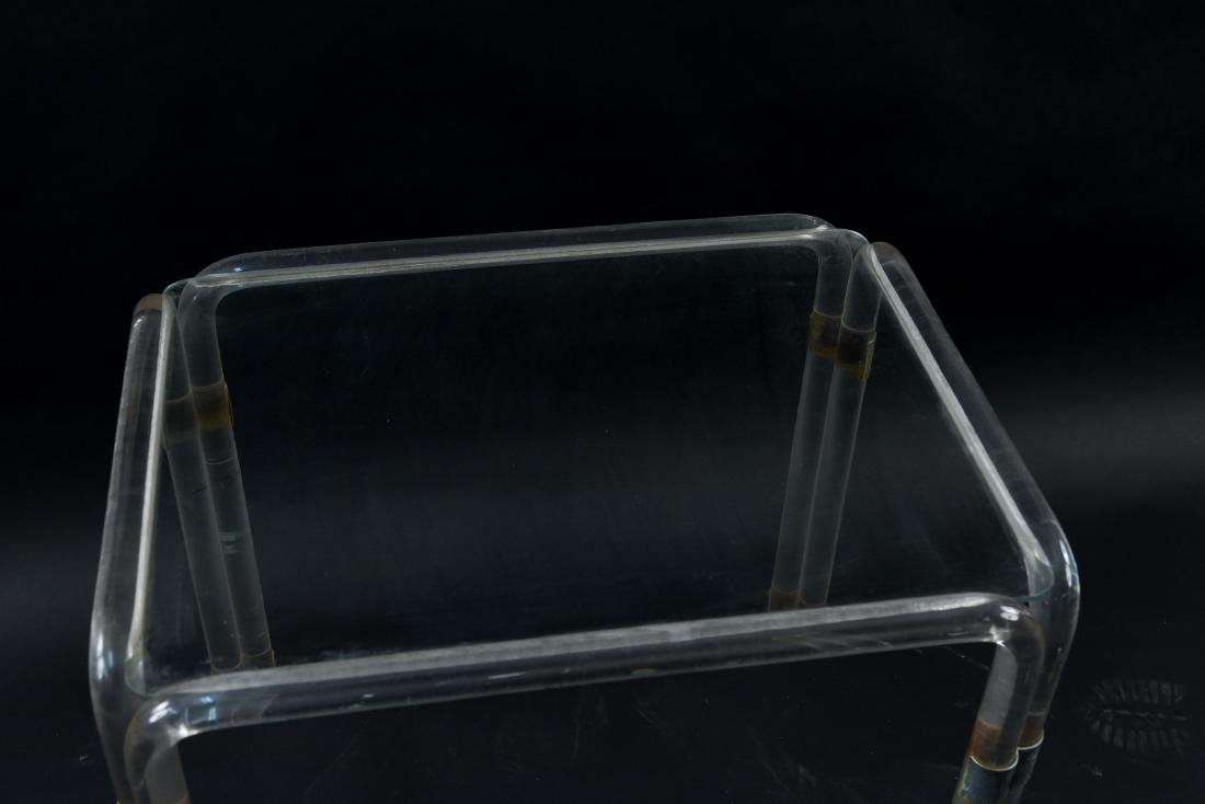 LUCITE SIDE TABLE - 3
