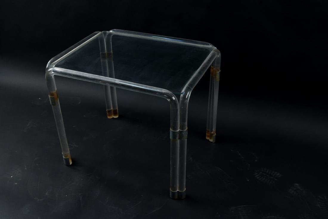 LUCITE SIDE TABLE - 5