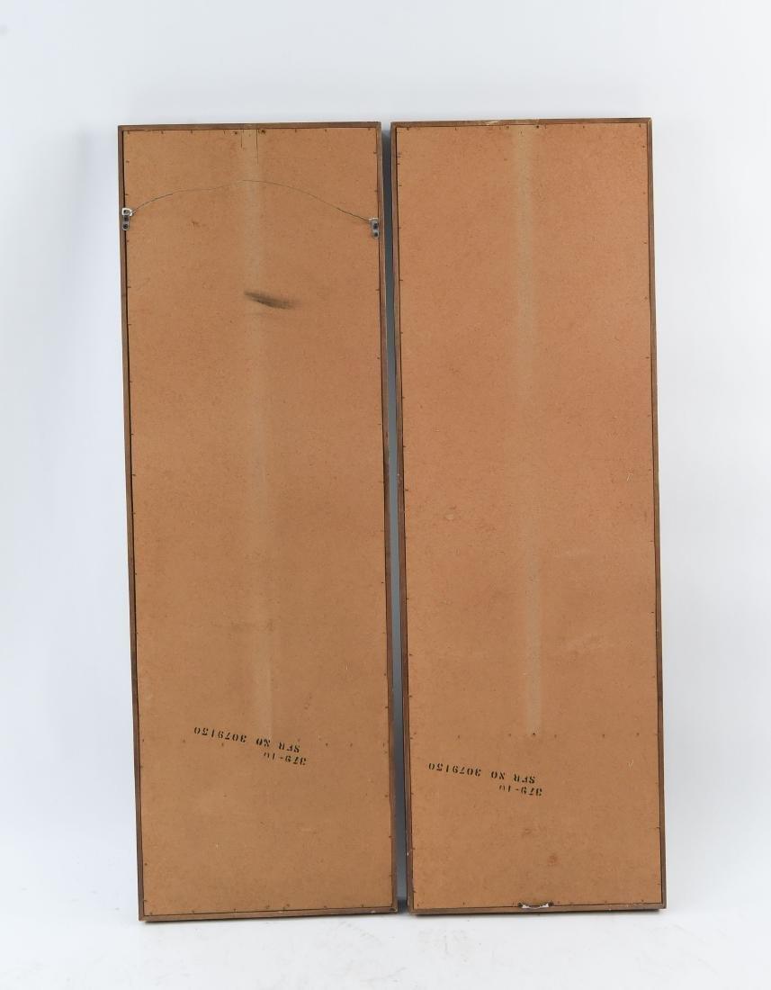 PAIR OF MID-CENTURY WOODEN MIRRORS - 8