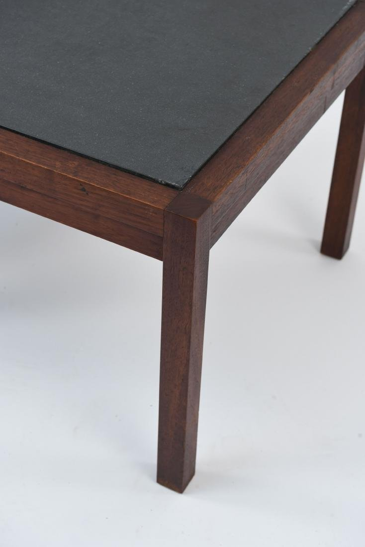 MID-CENTURY SLATE TOP END TABLES - 4