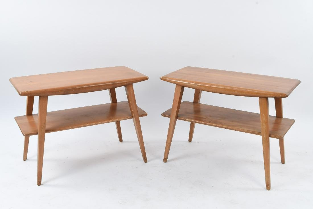 PAIR OF HEYWOOD WAKEFIELD CHAMPAGNE END TABLES