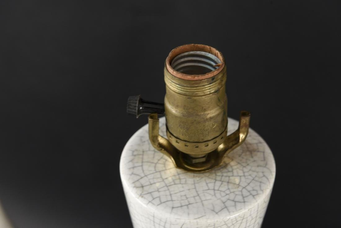 PAIR OF MID-CENTURY CERAMIC LAMPS - 8