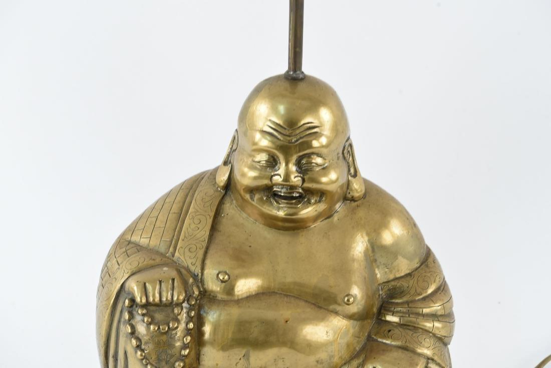 BRASS SCULPTURAL BUDDHA LAMP - 2