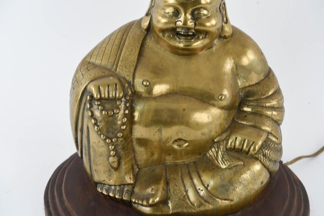 BRASS SCULPTURAL BUDDHA LAMP - 3