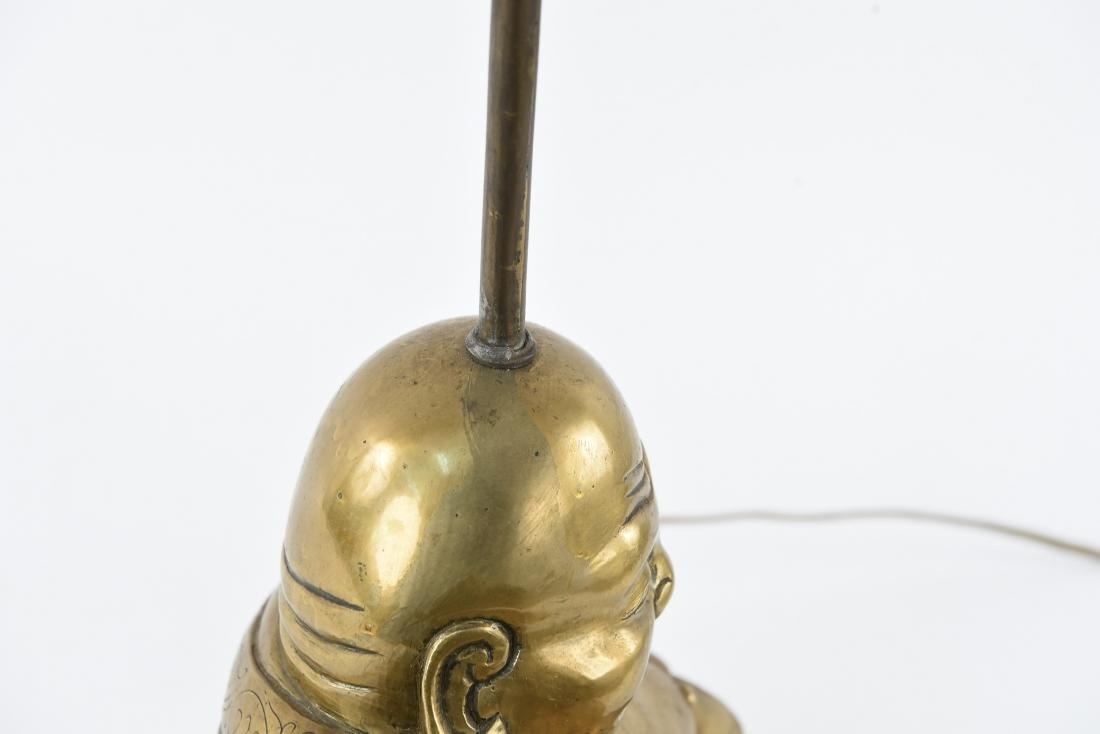BRASS SCULPTURAL BUDDHA LAMP - 8