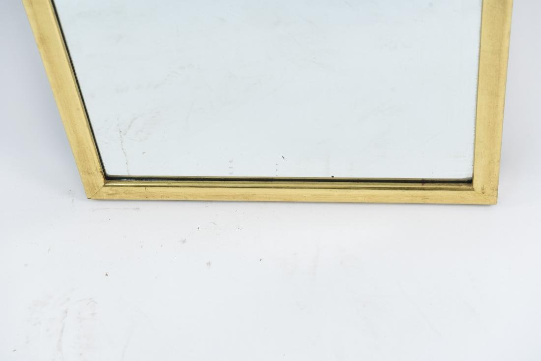 GILT AND SCULPTED TOP BEVELED MIRROR - 6