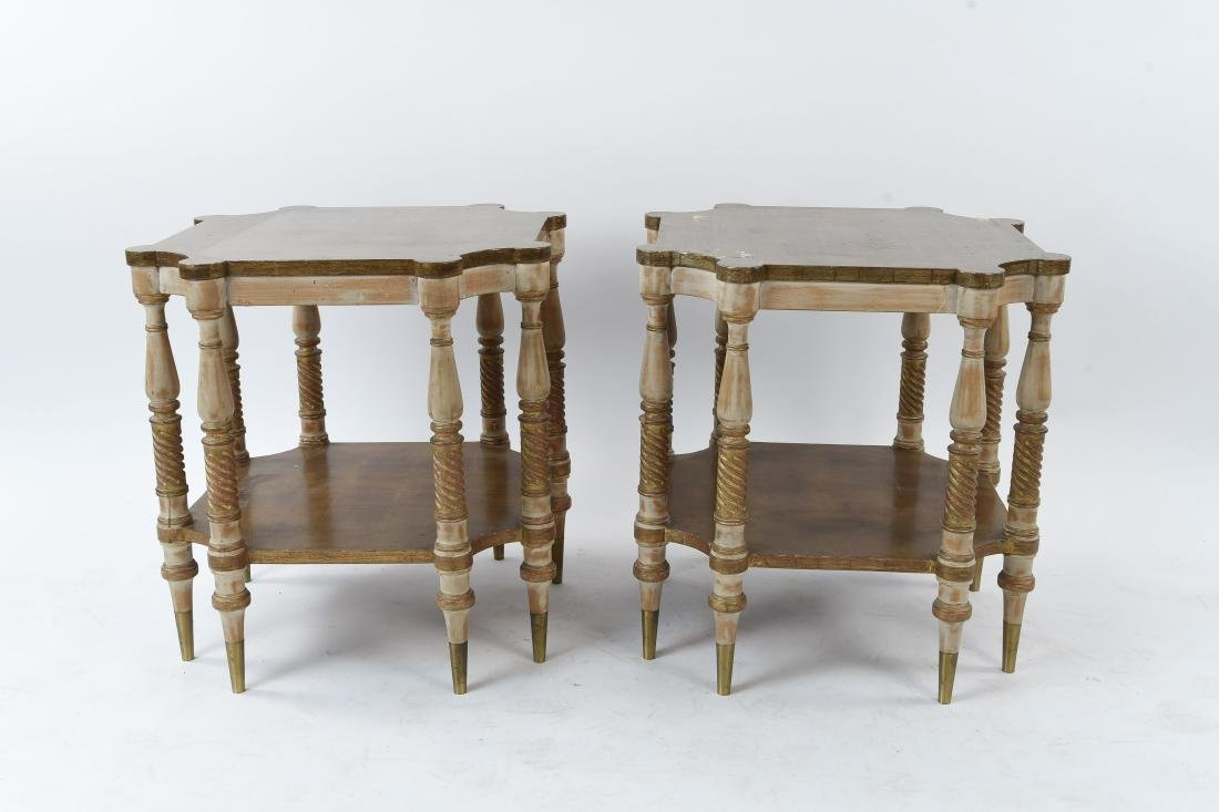 PAIR OF HOLLYWOOD REGENCY STYLE TABLES