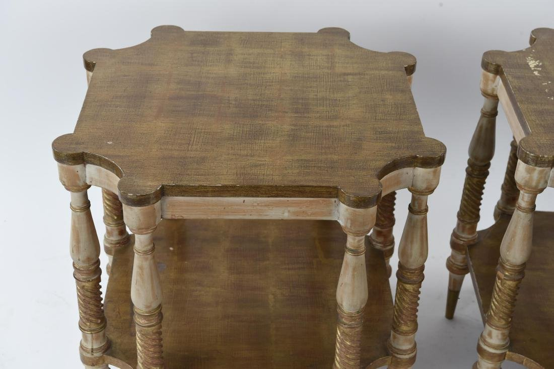 PAIR OF HOLLYWOOD REGENCY STYLE TABLES - 2