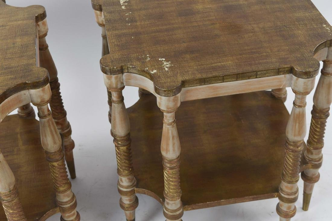 PAIR OF HOLLYWOOD REGENCY STYLE TABLES - 3