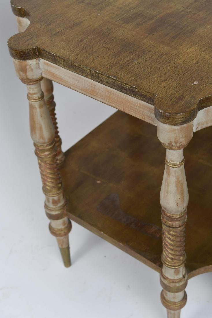 PAIR OF HOLLYWOOD REGENCY STYLE TABLES - 5