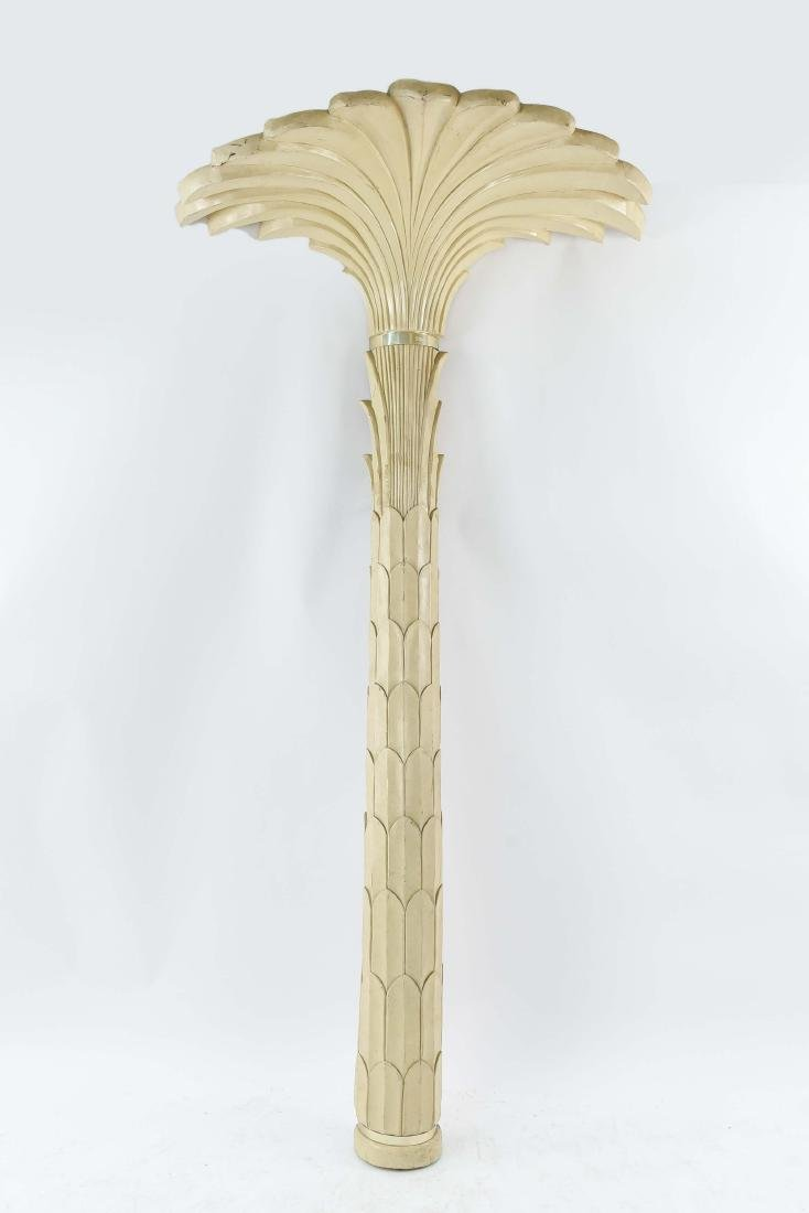 LARGE PALM TREE WALL SCONCE LAMP