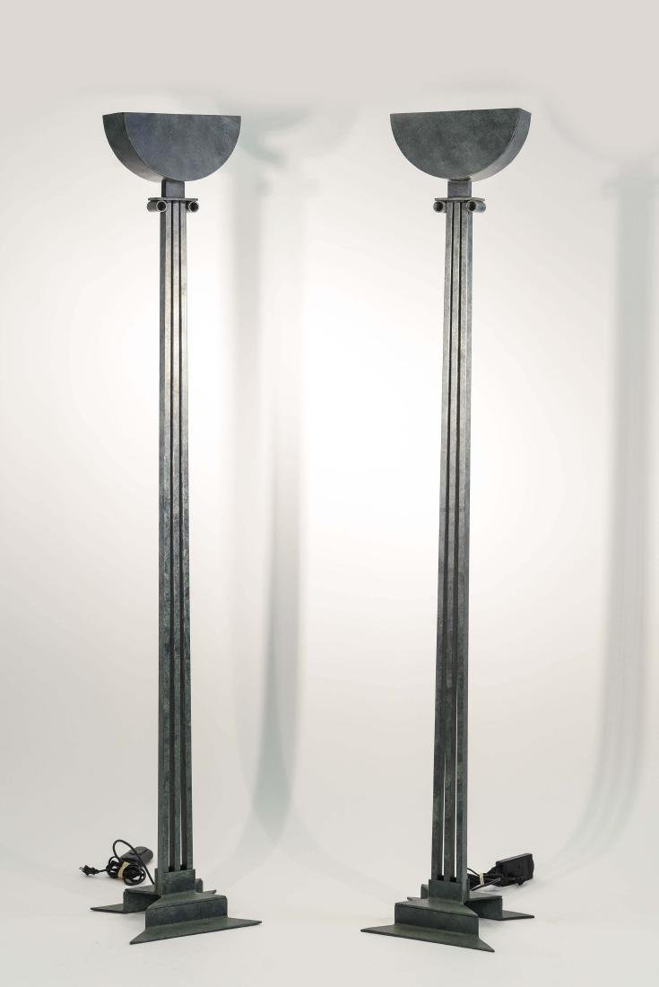 PAIR OF MODERNIST CLASSICAL STYLE FLOOR LAMPS