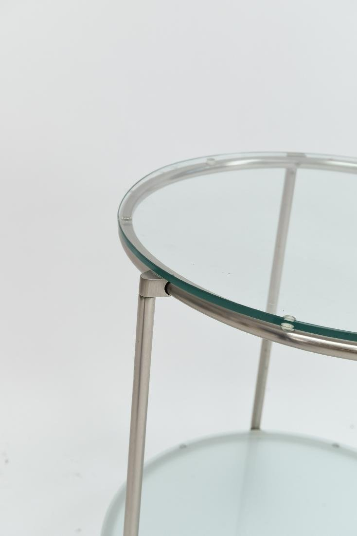 TWO TIERED CHROME CONTEMPORARY SIDE TABLE - 5
