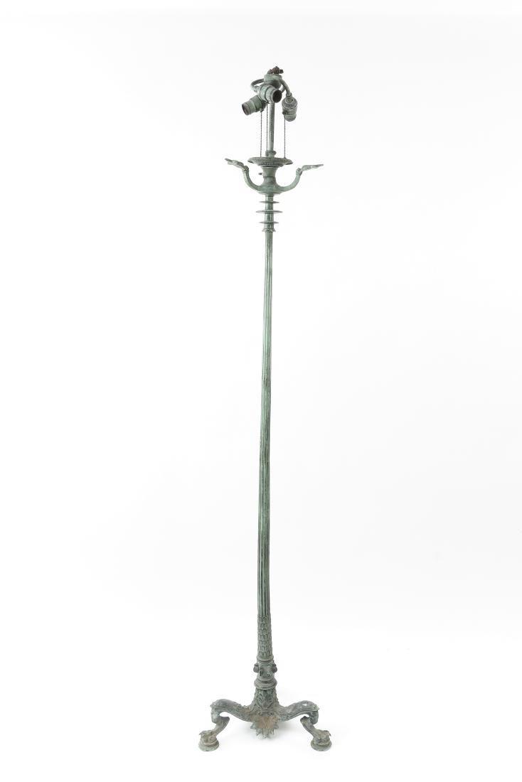 ORNATE BRONZE FLOOR LAMP