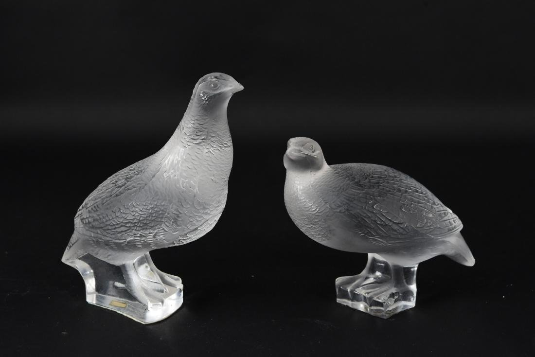 (2) LALIQUE BIRDS