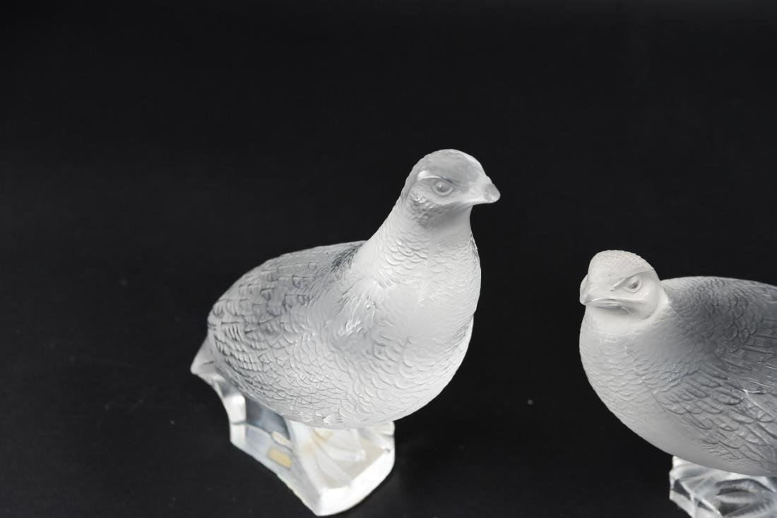 (2) LALIQUE BIRDS - 2