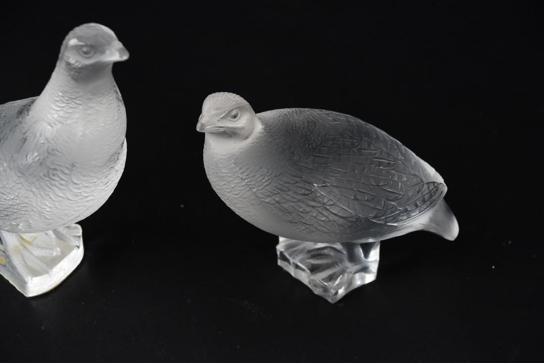 (2) LALIQUE BIRDS - 3