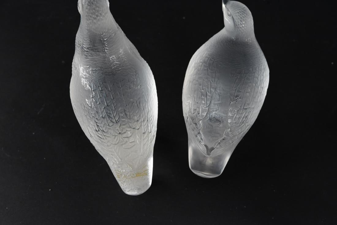 (2) LALIQUE BIRDS - 7