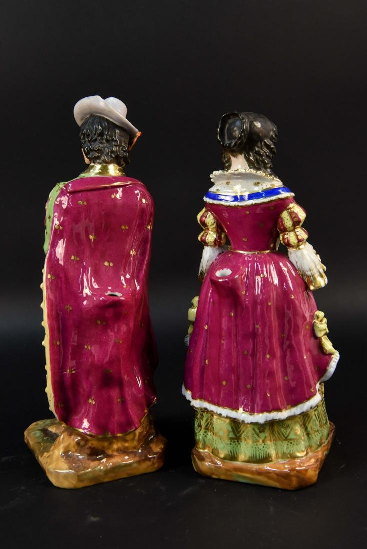 PAIR OF FRENCH OLD PARIS PORCELAIN FIGURES - 8