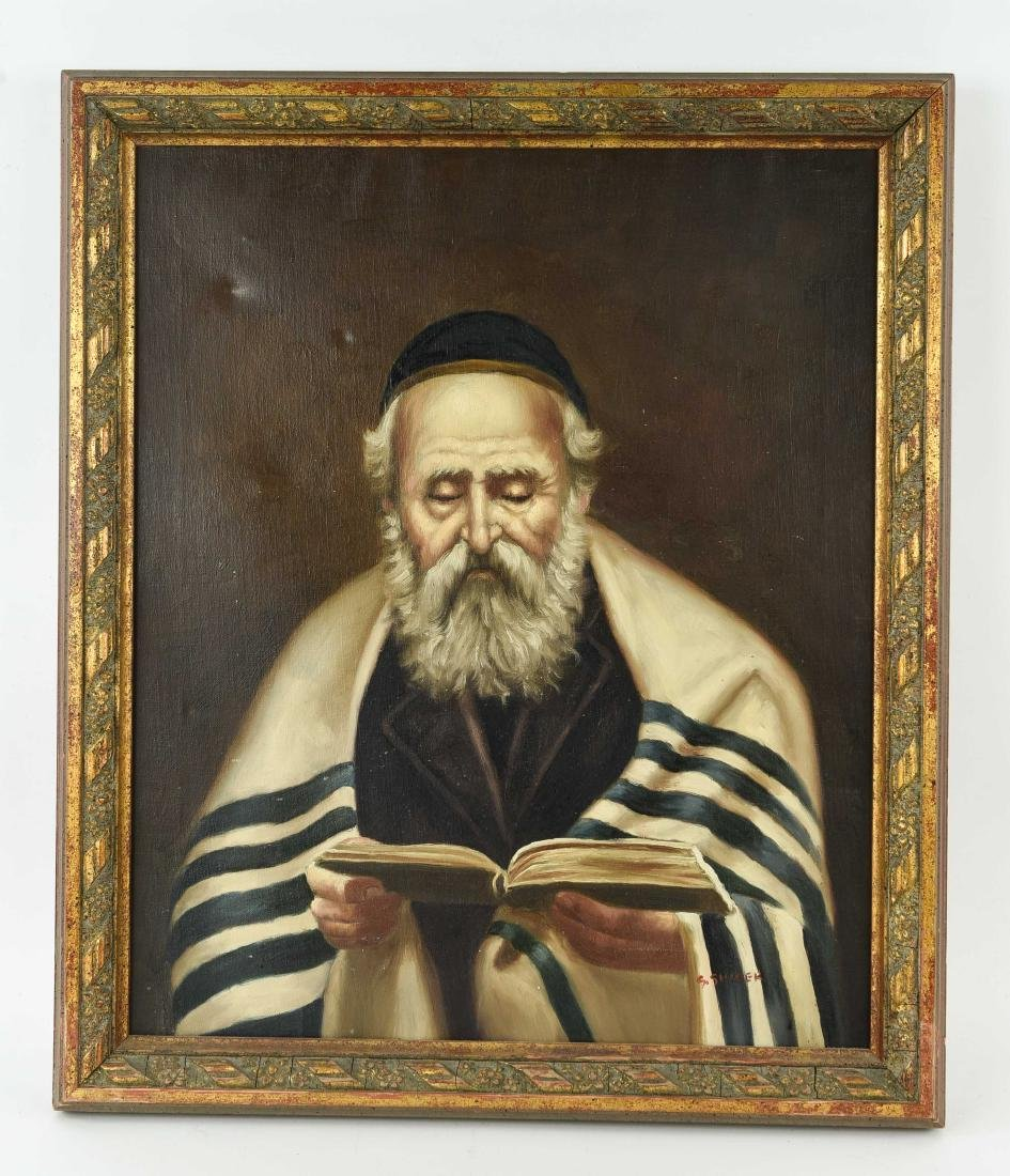 RABBI OIL ON CANVAS PAINTING